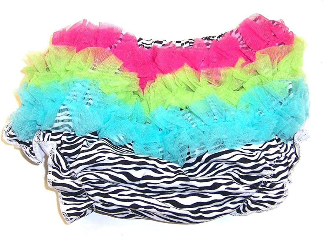 3-12 Months Small Baby Girls Zebra Bloomers