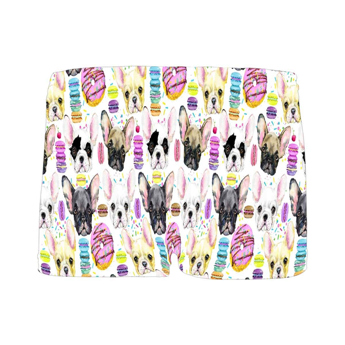 INTERESTPRINT Boys Watercolor Puppy French Bulldog with Sweet Macaron ComfortSoft Printed Boxer Briefs 5T-2XL