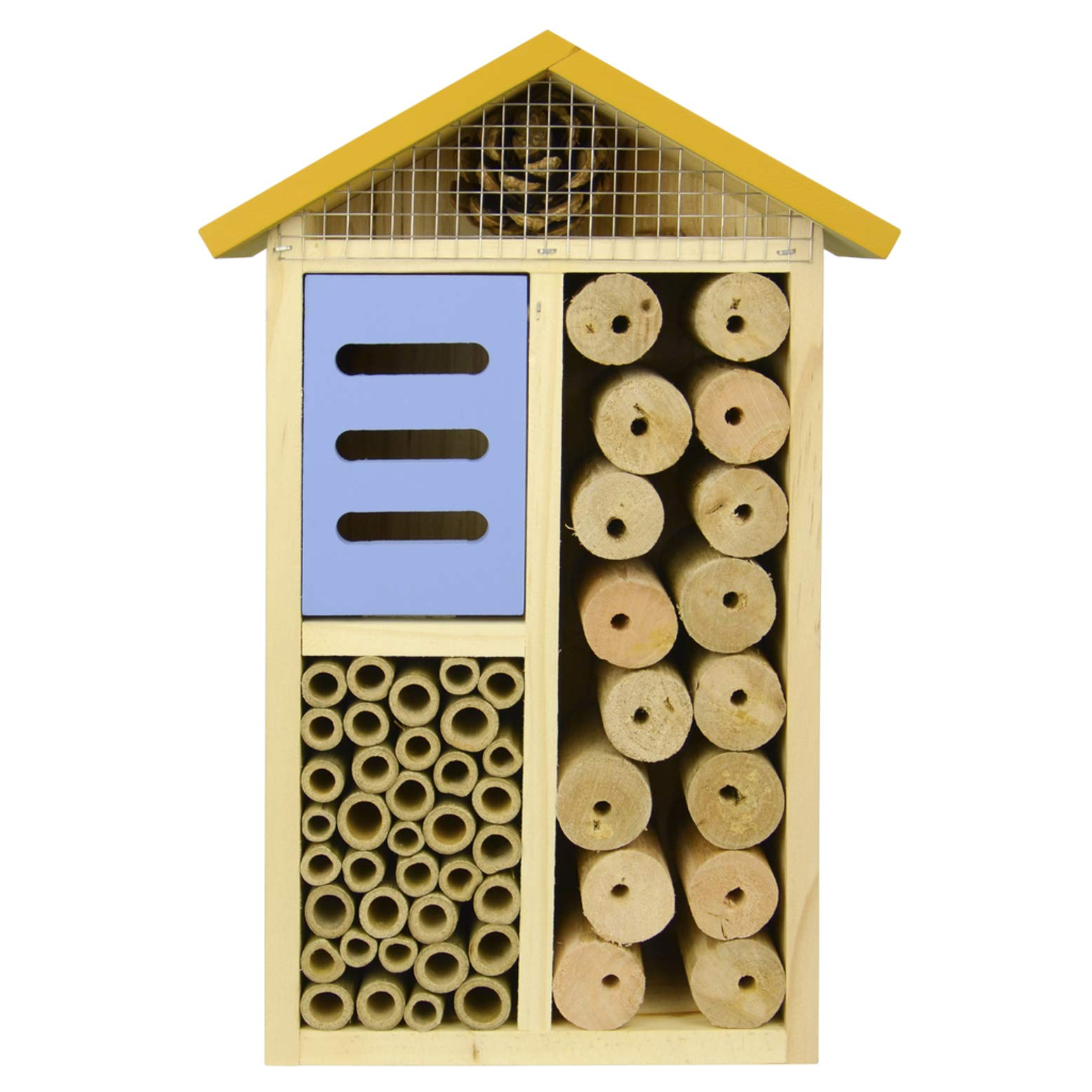Nature's Way Bird Products 066561 PWH3-A Multi-Chamber Yellow Insect House