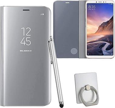 Guran® Mirror Efecto Espejo Funda para Xiaomi Mi MAX 3 Clear View ...