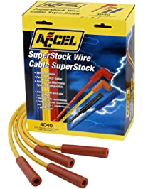 ACCEL 4040 SuperStock 8mm 4000 Series Yellow Graphite Spark Plug Wire Set