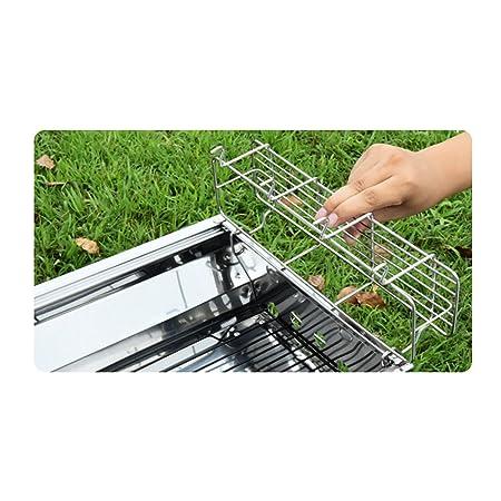 Barbacoa plegable al aire libre del acero inoxidable Parrilla casera del carbón de leña Sistema completo de herramientas (Size : Package E): Amazon.es: ...