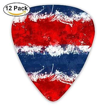 Púas para guitarra con diseño de la bandera de Costa Rica 351 en forma de púas ...