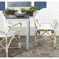Safavieh Rural Woven Dining Hooper Stackable Arm Chairs Set of 2 Deals