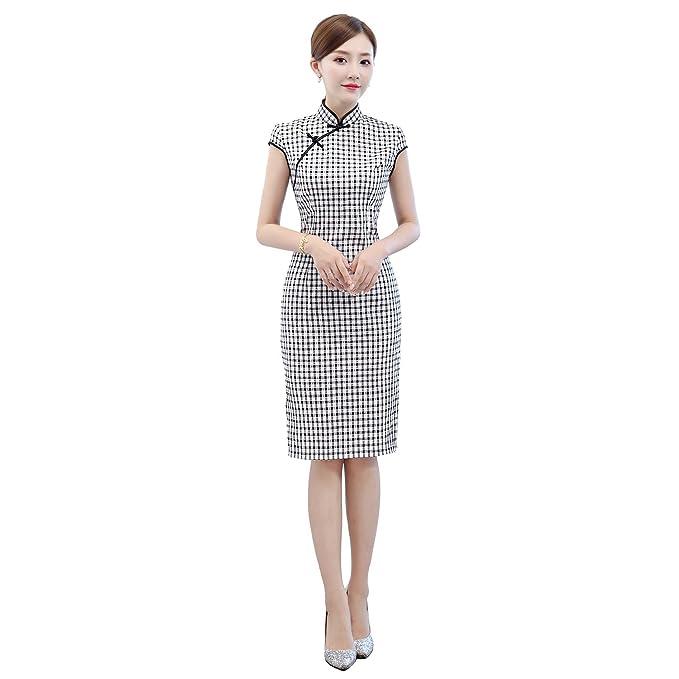 Amazon.com: Shanghai Story - Vestido chino para mujer ...