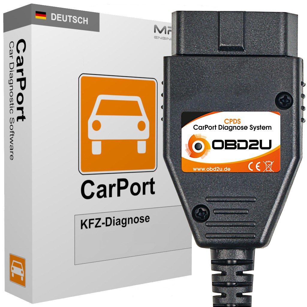 USB OBD KKL Diagnose CarPort BASIS SOFTWARE K-Leitung für VW Audi Seat Skoda