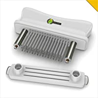 Meat Tenderizer Tool 48 Needle - UNIQUE PUNCTURE PAIR DESIGN - Stainless Steel Blades Tenderize Chicken Steak Pork & Other Meat - Dishwasher Safe Kitchen Accessories and Cooking Gift Idea