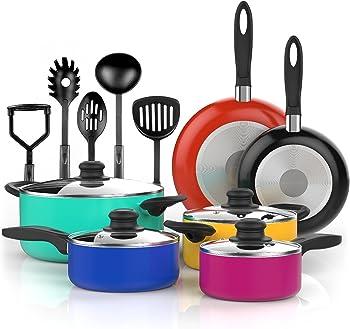 Vremi 15 Piece Nonstick Cookware Sets