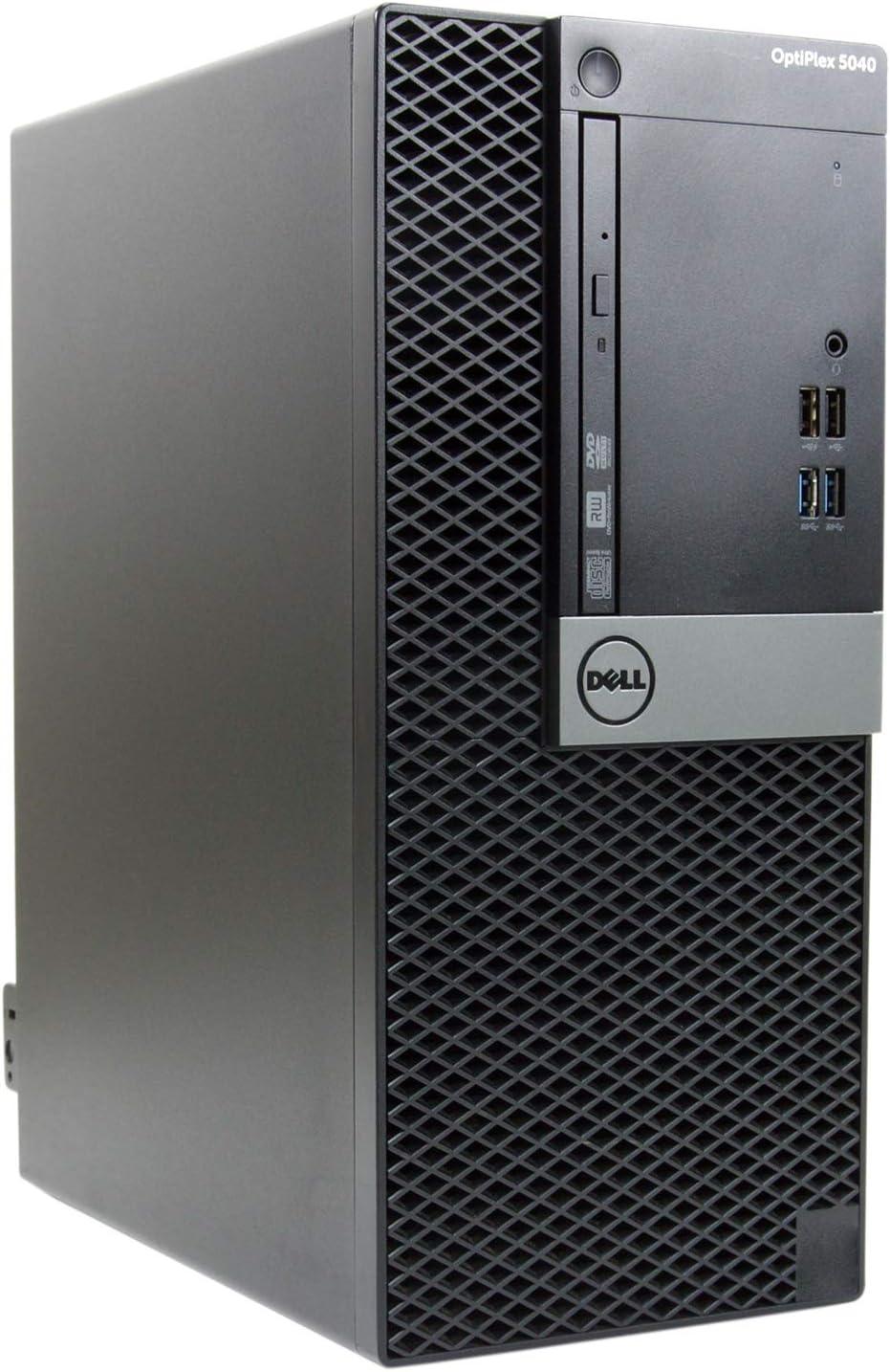 Dell OptiPlex 5040-T, Core i7-6700 3.4GHz, 16GB RAM, 480GB Solid State Drive, DVDRW, Windows 10 Pro 64bit, (Renewed)