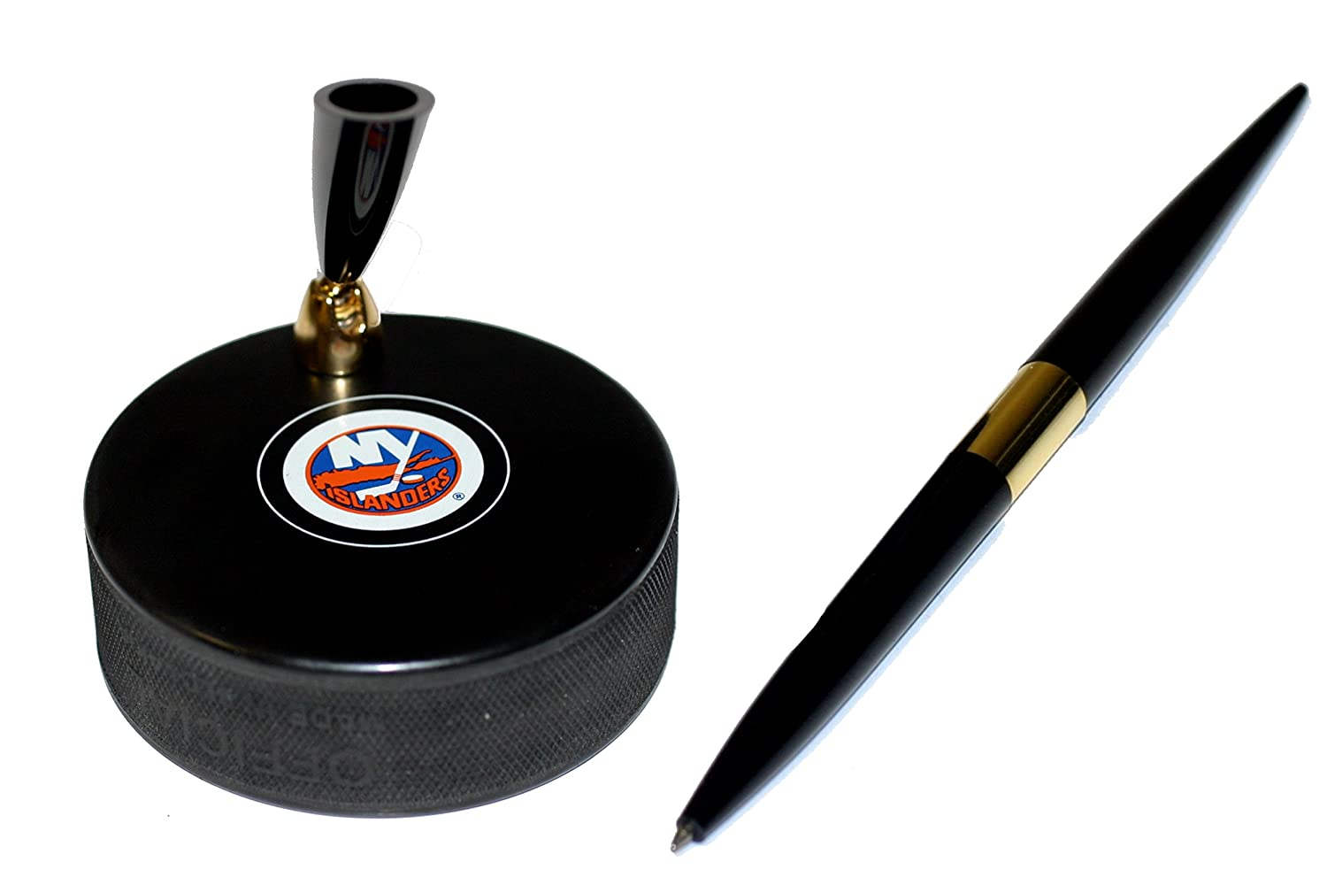 New York Islanders Autograph Series Hockey Puck NHL Desk Pen Holder