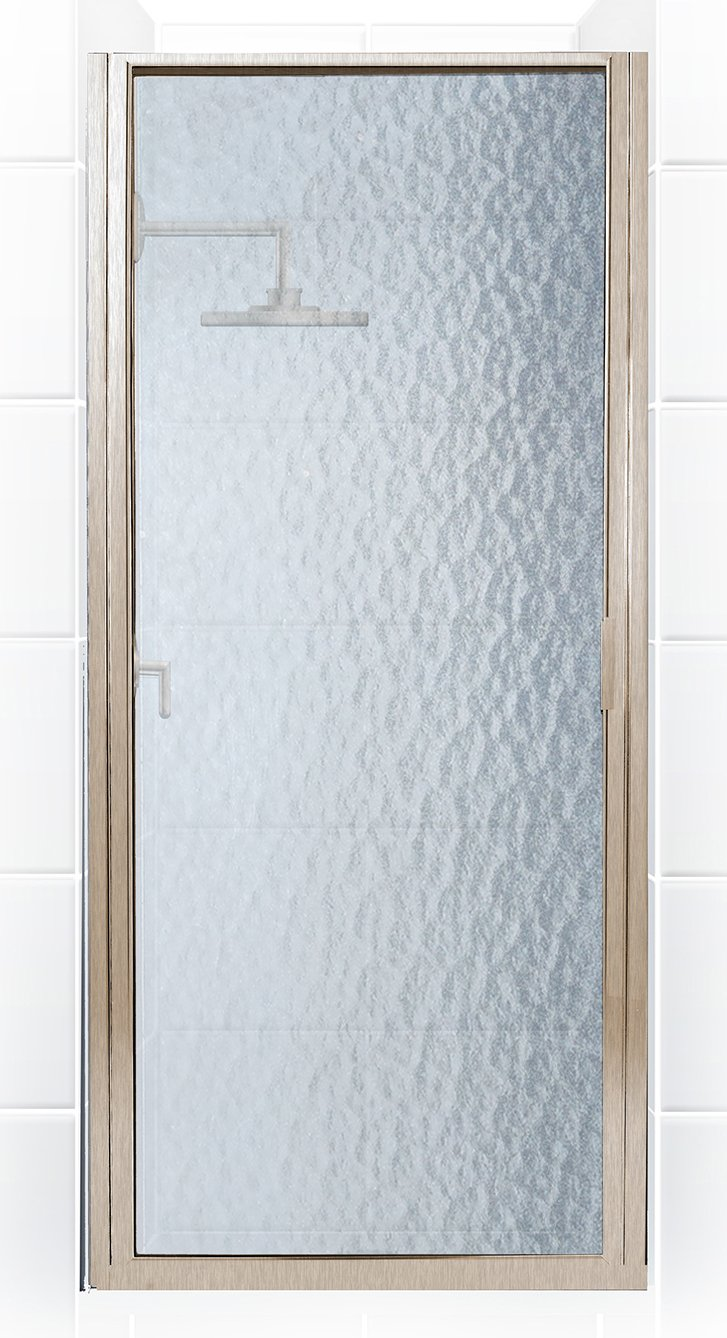 Coastal Shower Doors P36.66N-A Paragon Series Framed Continuous Hinge Shower Door with Aquatex Glass 36 x 65 Brushed Nickel