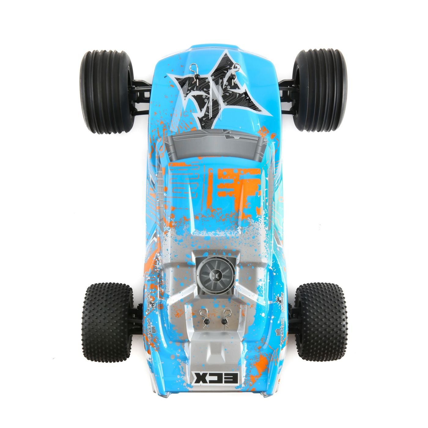 ECX 1/10 2WD Circuit Brushed, LiPo: RTR INT blau/Orange