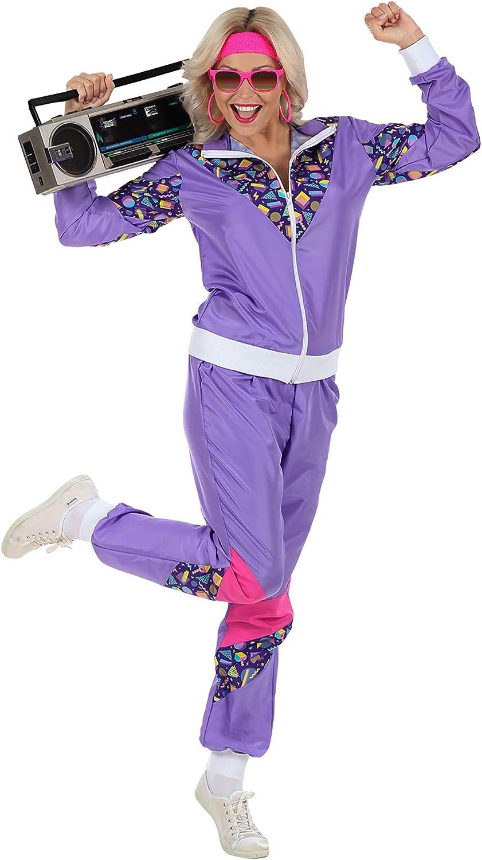 angenehmer Tragekomfort Widmann 00201 80er Jahre Trainingsanzug Karneval Proll Anzug Retro Style verschiedene Gr/ö/ßen Jacke und Hose Erwachsenenkost/üm Assi Anzug Bad Taste Party 80ties
