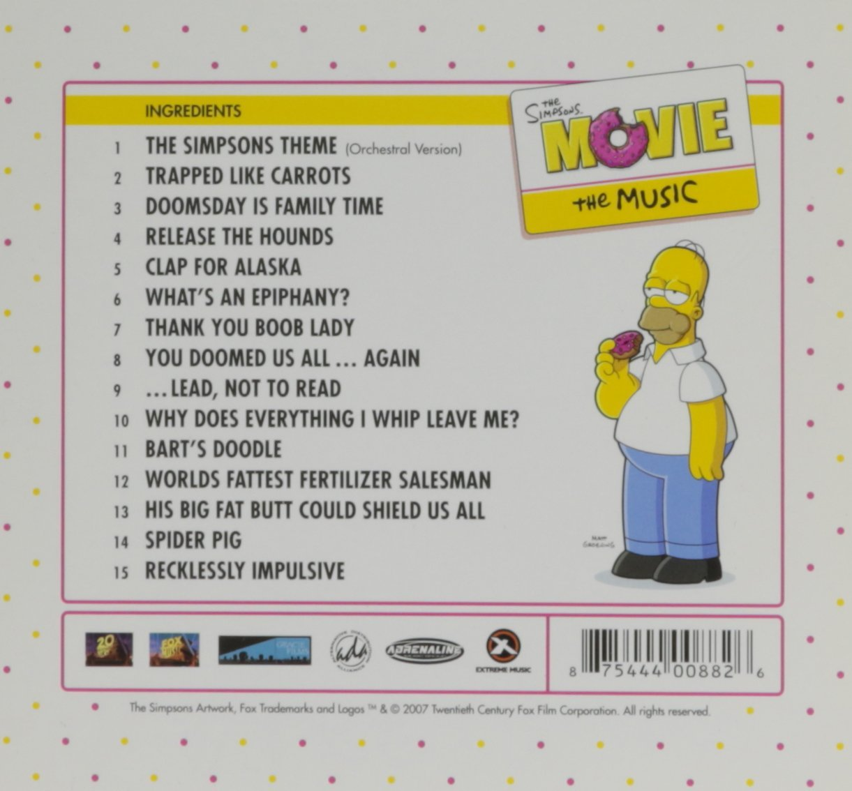 Simpsons Movie Soundtrack Amazon Com Music