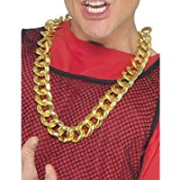 Gangster Gold Chain Necklace Chunky Rapper Chav Bling Accessory Pimp Fancy Dress
