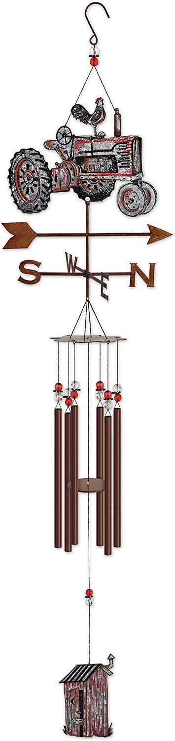 Sunset Vista Tractor Chime Outdoor Decor