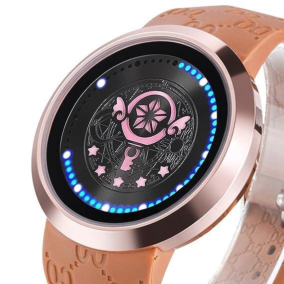 xingyunshi Niñas Reloj Anime Card Captor varita de coleccionista Edición pantalla táctil LED reloj