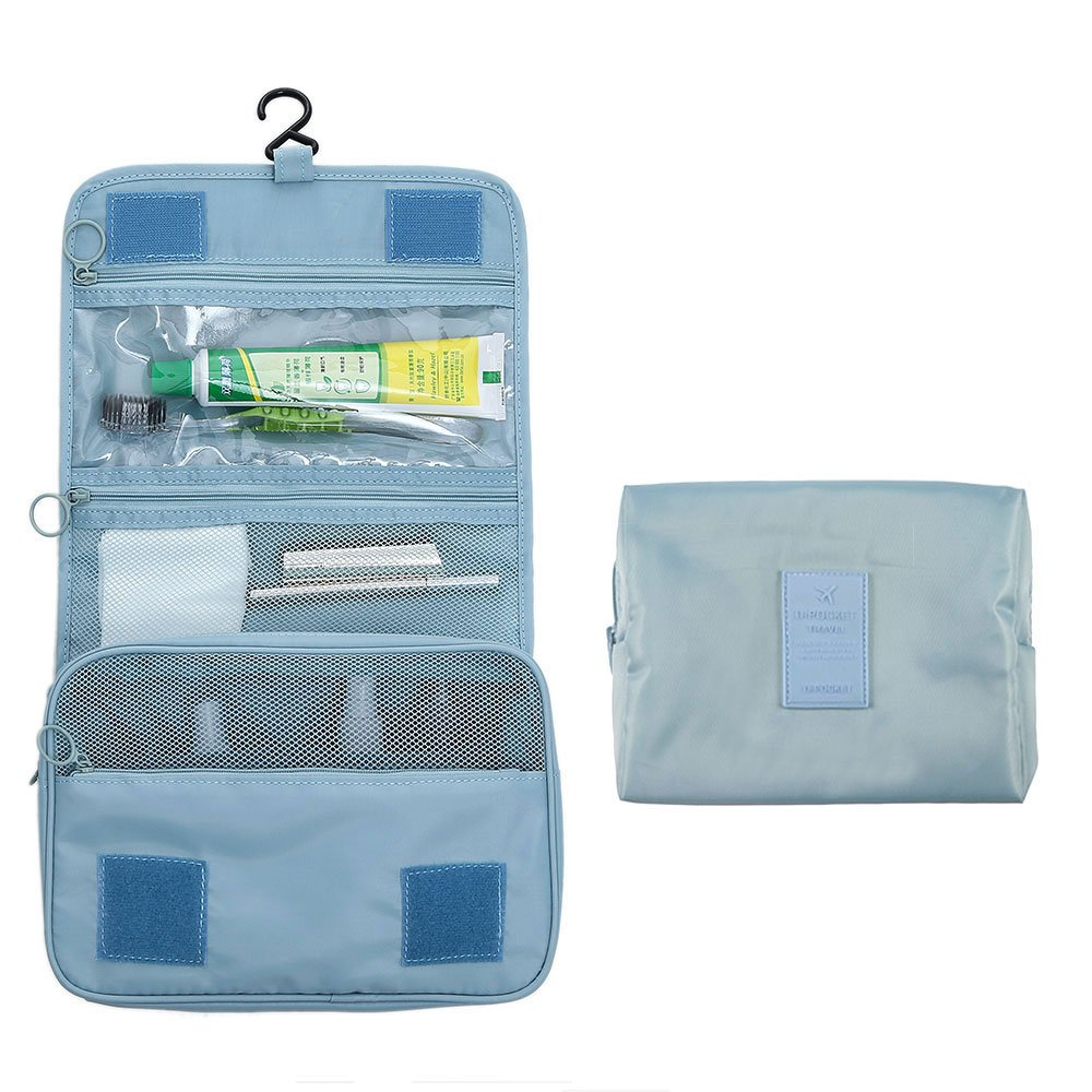 Arxus Toiletry Bag Portable Waterproof Kit with Cosmetic Make up Bag Travel Set (Light Blue)