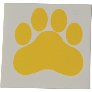 f886c4be3fdb Image Unavailable. Image not available for. Color: Yellow Paw Print  Temporary Tattoos ...