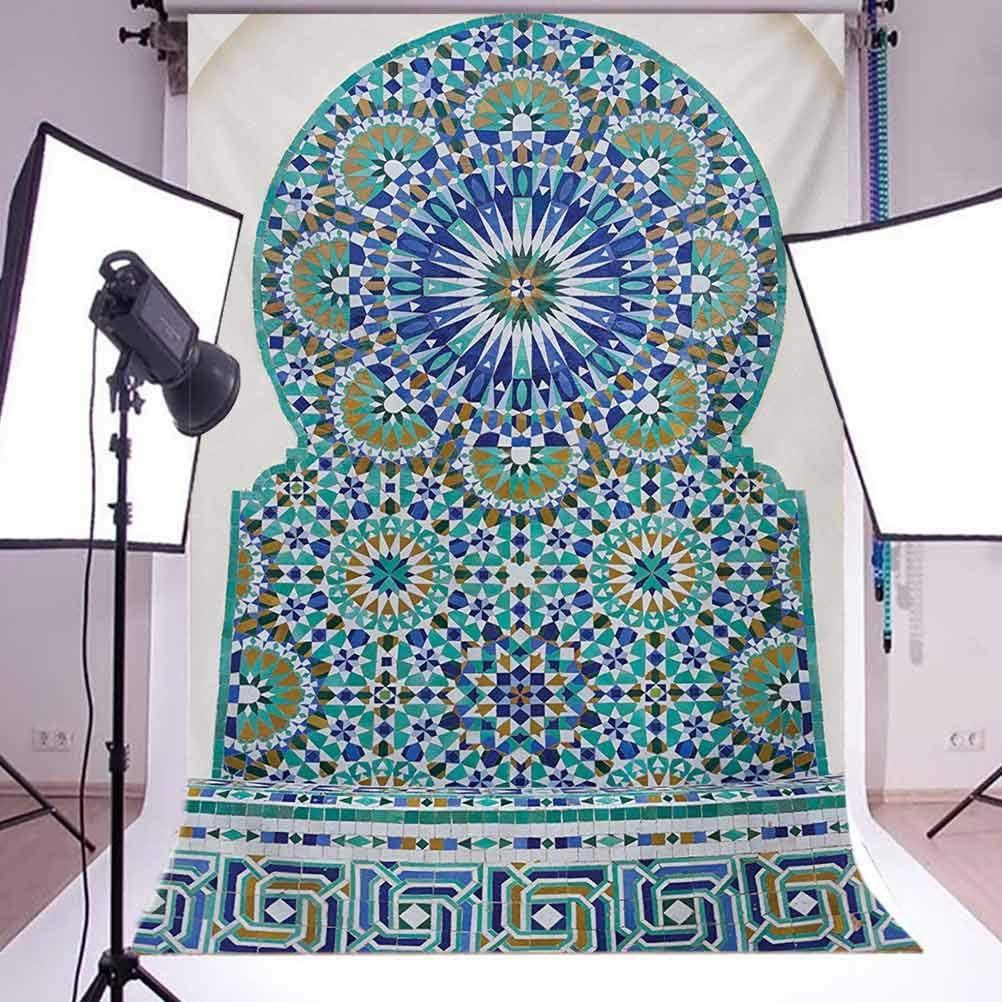 Moroccan 10x12 FT Backdrop Photographers,Ceramic Tile Antique East Pattern Heritage Architecture Print Background for Kid Baby Boy Girl Artistic Portrait Photo Shoot Studio Props Video Drape Vinyl