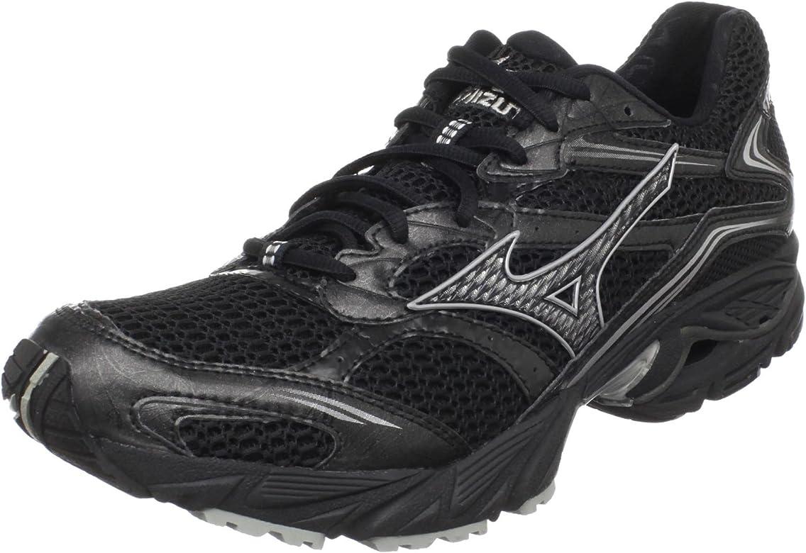 150a1a15af2e Amazon.com | Mizuno Men's Wave Nexus 5 Running Shoe, Black/Silver ...