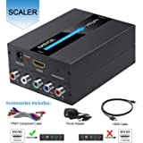 EASYCEL HDMI to Component Converter, 1080P Aluminum HDMI to RGB Converter, HDMI to YPbPr 5RCA Converter Adapter with Scaler Function, Includes HDMI and Component Cables