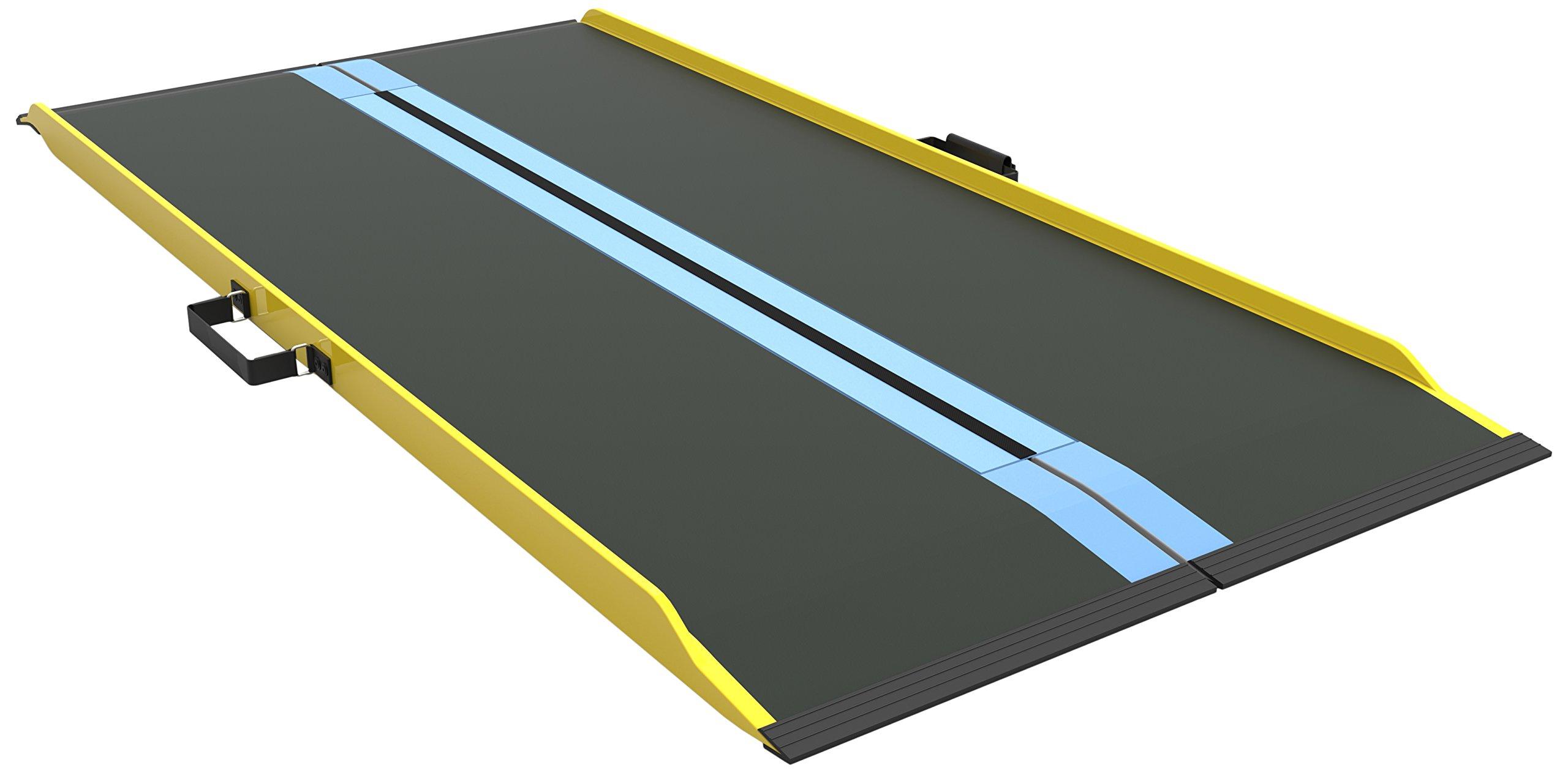 EZ-ACCESS Suitcase Singlefold Graphite Fiber Ramp, 67 Inch, 21 Pound