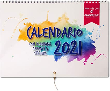 Calendario Organizer 2021 per tutta la famiglia   Ampio spazio per