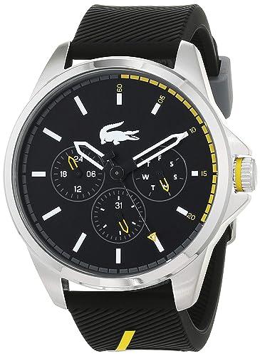 Lacoste Reloj Multiesfera para Hombre de Cuarzo con Correa en Silicona 2010978: Amazon.es: Relojes
