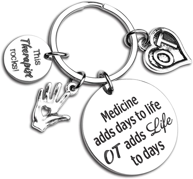 FOTAP Occupational Therapy Put The Fun in Functional Keychain Therapist Keychain Gifts for OT
