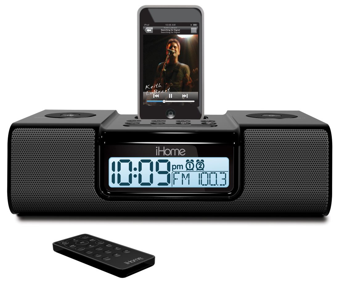 Amazon.com: iHome iH9 Alarm Clock Speaker System with Dock for iPod  (Black): Home Audio & Theater