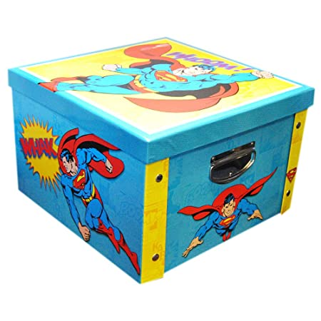 Robert Frederick Superman Collapsible Storage Box, Plastic, Assorted