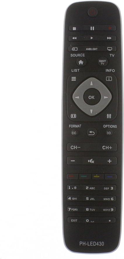 Mando a distancia de repuesto LED 430, YKF309 – 007, para dispositivos Philips TV: Amazon.es: Electrónica