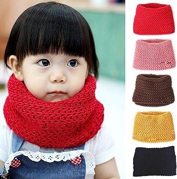 Kids Baby Boys Girls Winter Warm Thicken Knitted Scarf Neckerchief Neck Shawl US