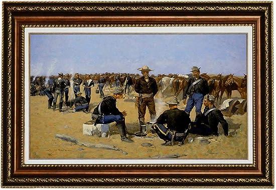 Eliteart-A Cavalrymans Breakfast on The Plain