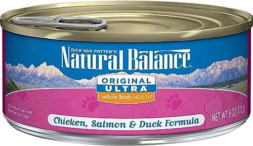 Natural Balance Original Ultra Whole Body Health Wet Cat Food, Chicken, Salmon Duck