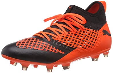 f6b28a634 Puma Men's Future 2.3 Netfit FG/AG Footbal Shoes, Black-Shocking Orange 6
