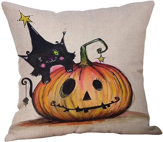 YWLINK Funda De CojíN Halloween Funda De Almohada Abrazo Calabaza ...