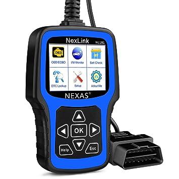 Automotive Scan Tool >> Nexas Nl101 Obd2 Scanner Automotive Diagnostic Tool Check Engine Light Obd2 Car Code Reader Fault Code Scanner With Battery Test