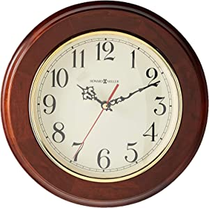 Howard Miller Brentwood Wall Clock 620-168 – Windsor Cherry & Round with Quartz Movement