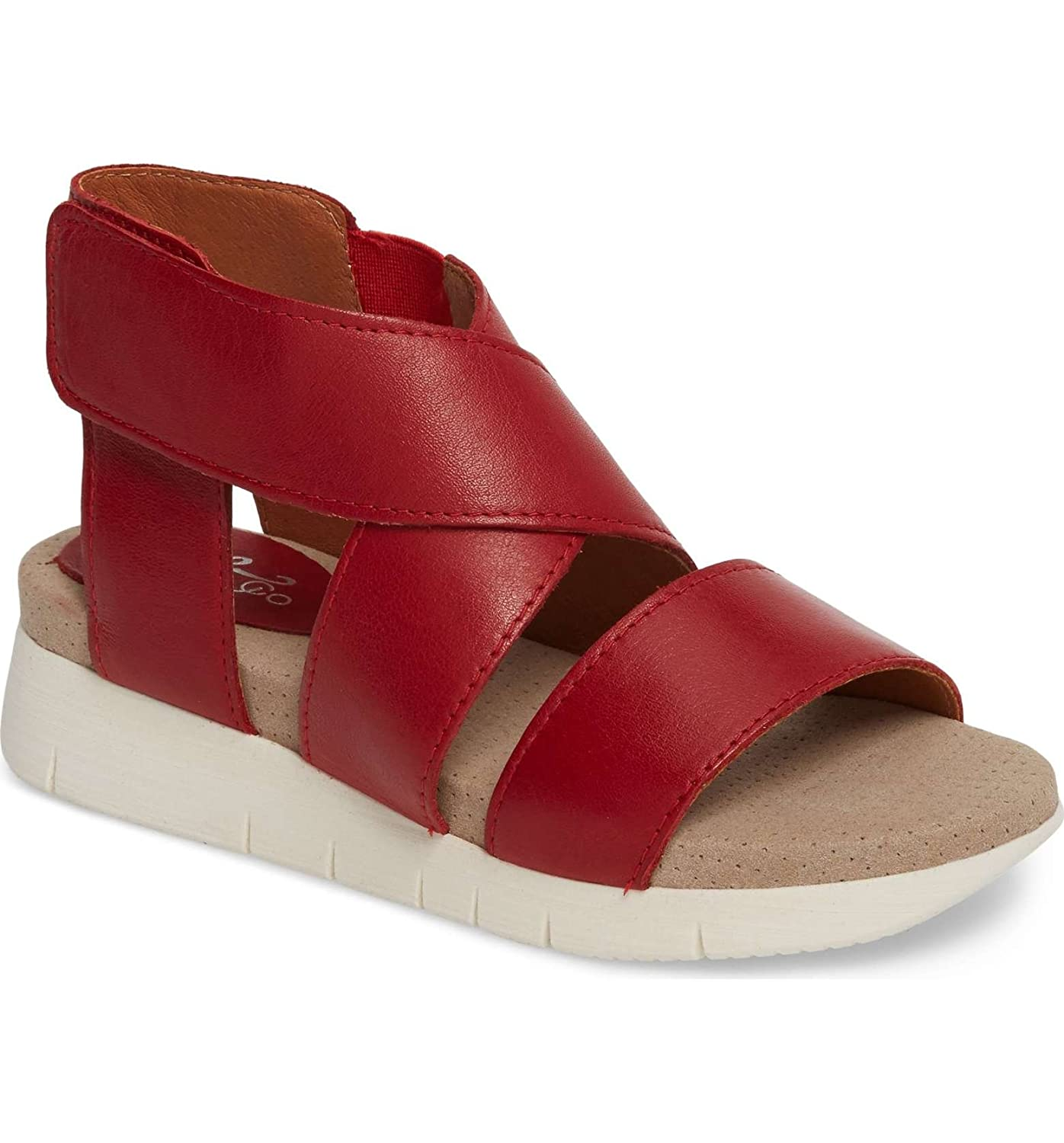 Bos. & Co. Women's Piper Sandal B075GQJZL7 37 M EU (6-6.5 US)|Red Sauvage Leather
