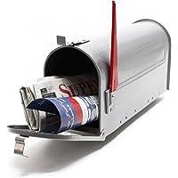US brievenbus zilver-gekleurd Amerikaans ontwerp brievenbus brievenbus pijler brief post doos