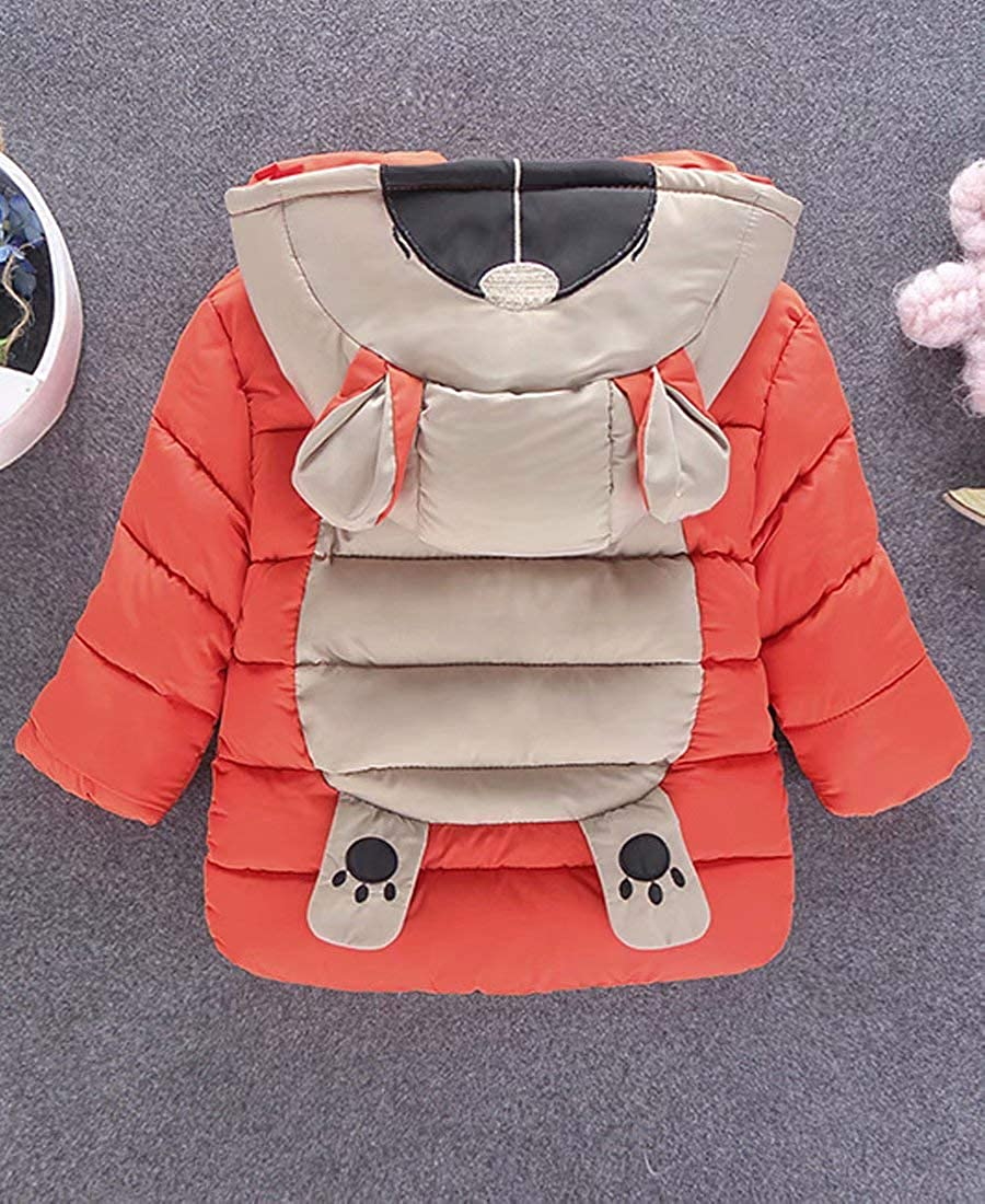 Capturelove Little Girls Boys Cartoon Hooded Down Jacket Coat
