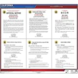 """California/Milpitas Minimum Wage Poster - 30"""" x 26"""" English, Vietnamese & Chinese Laminated Labor Law Poster for Workplace Compliance - J. J. Keller & Associates"""