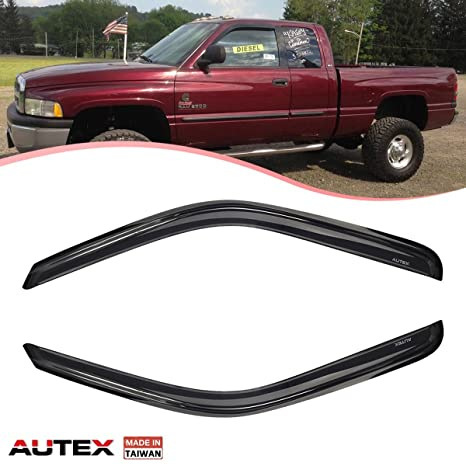 Amazon.com  AUTEX 2Pcs Tape On Window Visor Fits for 1994 1995 1996 ... 610b63aab87