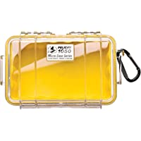 Pelican 1050 Clear Micro Case, Yellow with Clear Lid