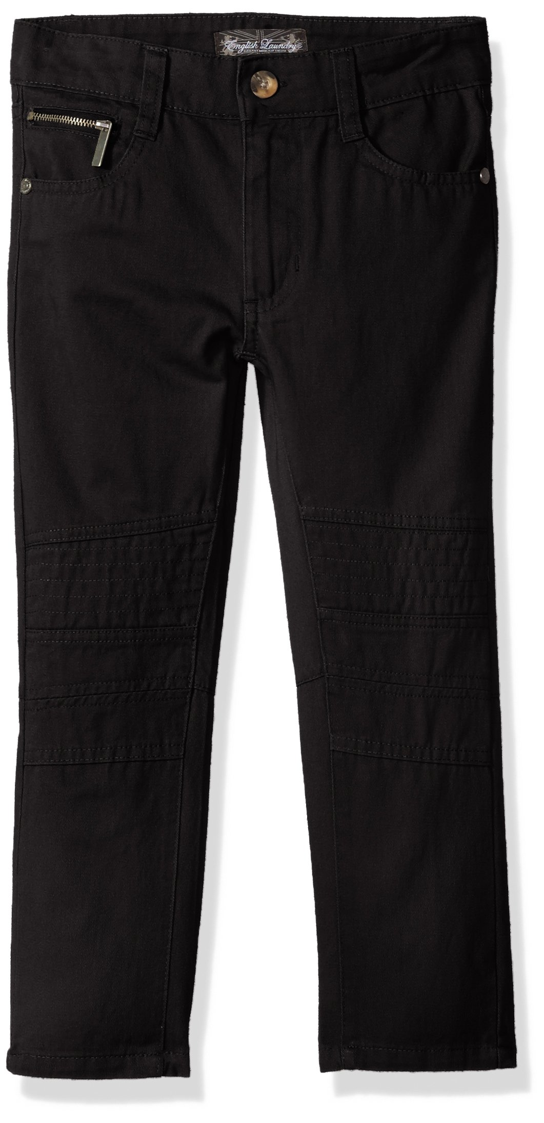 English Laundry Big Boys' Twill Pant (More Styles Available), Black, 12
