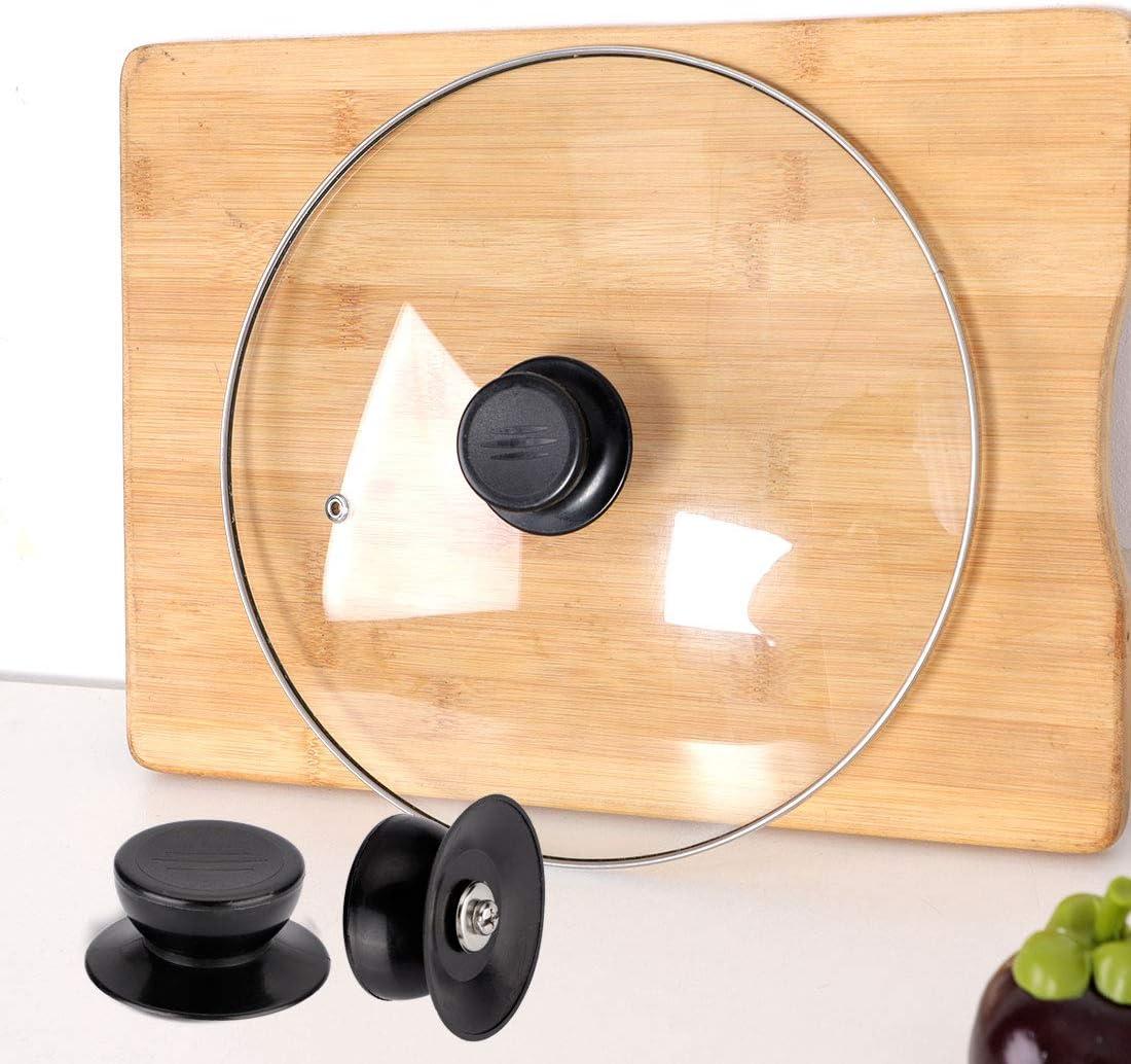 Pomelli per coperchio coperchi di fissaggio assessori per cucina fornelli resistenza al calore pentole padelle in plastica colore: nero 46 mm