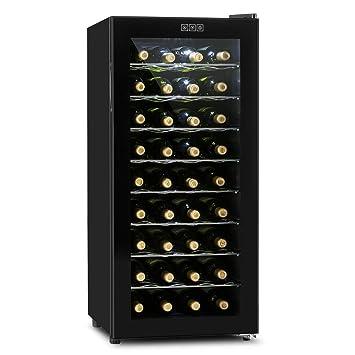 Klarstein Vivo Vino Cave à vin thermoélectrique (36 bouteilles, 118L, 8  étagères amovibles 8c819cf1b146