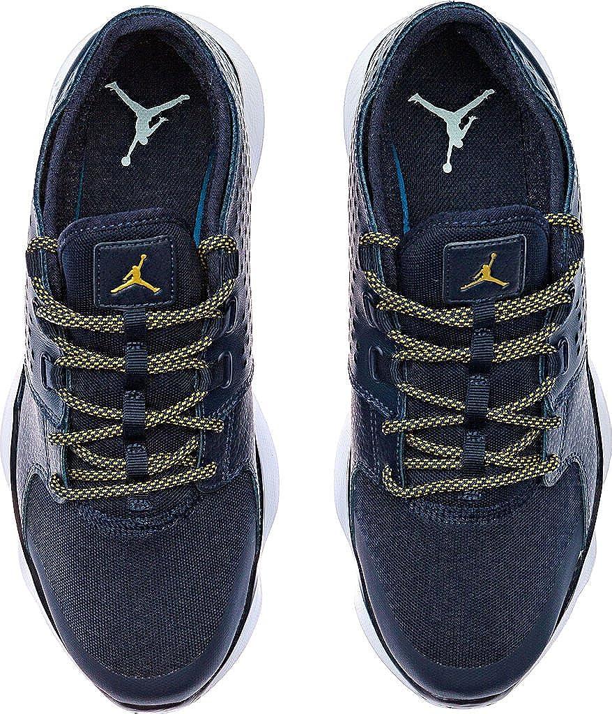Jordan Flow Men Round Toe Leather Leather Leather schwarz Basketball schuhe 64bd89